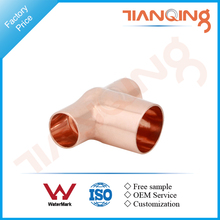 T103 Factory price pipe fitting copper reducing tee