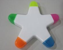 5 in 1 star shape fruit scented marker Highlighter pen