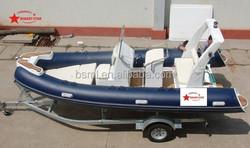 cheap fiberglass boat rigid inflatable boat rib