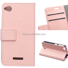 For Htc Desire 320 Leather Flip Case Pink White Black