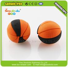 Latest School Stationery Assemble Soft Rubber Basketball Eraser