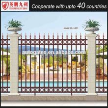 High quality aluminum fixed louver fence, black aluminum fence , Aluminum Pet Fencing