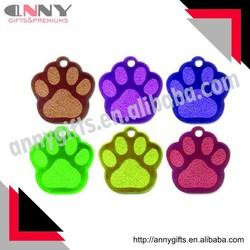 Glitter Pet tags, DOG PAW ID tag