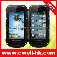 IP68 Waterproof Quad Core Android 4.2 Dual SIM Card 4.3 Inch Gorilla Glass 1GB RAM 8.0MP Camera ALPS Mobile Phone