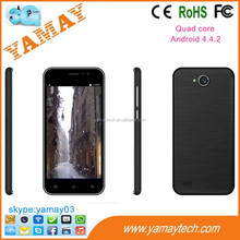 small chinese mobile phones 4.5inch MTK6582 quad core 3g/gsm 2.0/5.0MP camera wifi/gps android mobile 4gb ram smart phone