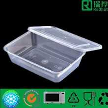 Bio-degradable,disposable Feature and Plastic Material plastic food container 500ml