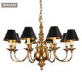 nova bronze antigo clássico de bronze bronze shade chandelier peças