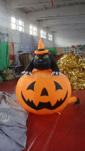 Newly halloween decoration halloween inflatable pumpkin with black cat W101