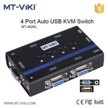 MT-462KL multifunctional hotkey 4 port usb console port auto kvm switch