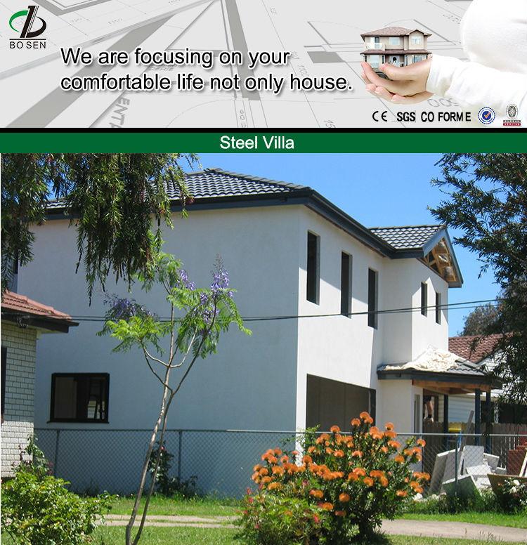 bungalow steel house prefab steel villa