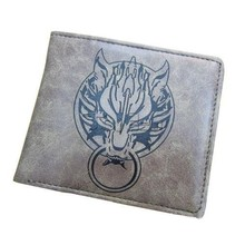 Game Final Fantasy VII 7 Cloud Wolf Grey Wallet Purse Bag Cosplay Collectible Toy