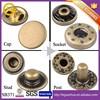 2015 New Item Antique Brass Metal Brass 14 mm 484 jacket snap buttons