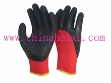 latex coated protective gloves 3/4 coated