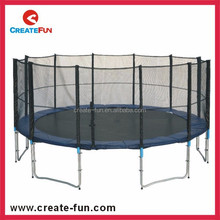 CreateFun 14ft china manufactory large outdoor trampolines enclosure safety net with 12 poles tubes