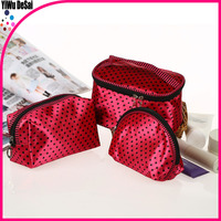 2015 Fashion woemn zipper high quality Newest promotional three-piece suit travel cosmetic bag