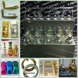 silver mirror chemical powder chrome spray coating machine for alloy wheel rims