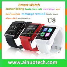 2015 New Hot U Watch U8 Smart Watch Bluetooth Fashion Smart Wrist Watch