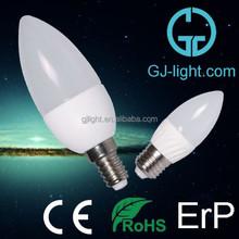 compatible aluminium heatsink 3w led candle light bulb e14