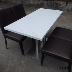 Kingkonree white solid surface artificial stone table