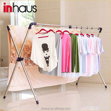 2015 X-type stainless steel extendable clothes drying hanger rack/foldable clothes hanger drying rack