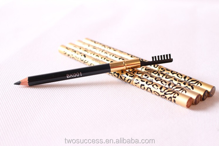 Best eyeliner wooden pencil flat eyebrow pencil with brush