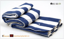 Wool hand feel cotton airline blanket throw