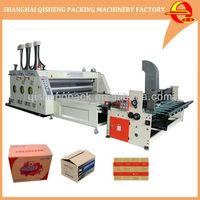 Automatic corrugated cardboard carton box flexo printing machine