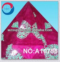 wholesale african velvet lace beaded stone velvet material for dress