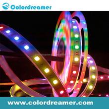 High brightness SMD5050 flexible DMX rgb led strip, 8W 30pixel per meter,DC12V IP65 waterproof decorative strip light