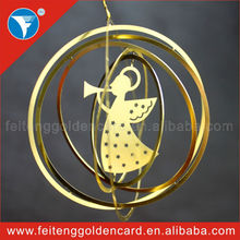 2014 new hot 3d wholesale metal christmas decoration made in china