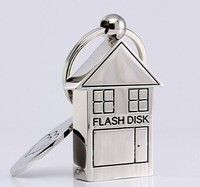 Cute Metal House Shape USB Flash Drive 16GB Usb Memory Stick Usb Stick 32GB Pendrive 16 GB Pen Driver 32GB Gift Gifts