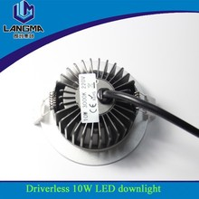 Langma dimmable 120 degree downlight fixtures driverless smd led downlight 10w