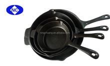 2015 hot selling cast- iron non stick round skillet set