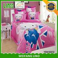 cat print bed sheet/wholesale 3d bedding sets children/designer cushion covers