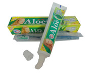 hot sell 105g Aloe white teeth& fresh breath& Natural herbage Essence &cool mint formula toothpaste
