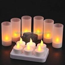 Soft lighting led recharging candle lamp for hotel restaurant decoration
