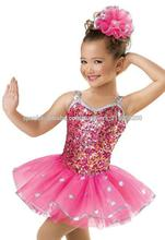 Confeti girls' de lentejuelas de baile vestido de disfraces para los niños