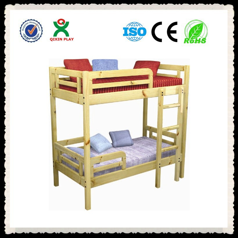 Solid Wood Children Furniture Bunk Bed Eco Friendly Cheap