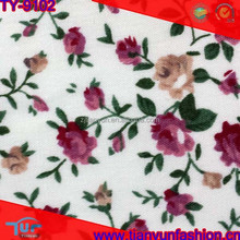 bleach white floral design children cute dressing pre quilted cotton fabric