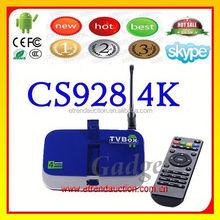 RK3288 CS928 TV Box Quad Core CS928 Android Smart TV Box Android 4.4 XBMC/KODI Preinstalled