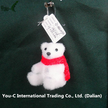 Polar Bear With Red Scarf Ornament