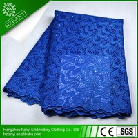 2015 wholesale Fashion siwss mesh lace/african net lace/french lace with peals for dress FY3088