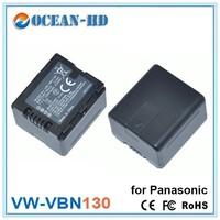 On sale VW-VBN130 for Panasonic ni-mh batteries pack 7.2v