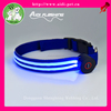 illuminated dog collar made of 100%nylon