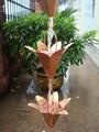 8 Fuß lilie gehämmert kupfer regen ketten