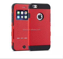 High quality hybrid tpu+ Leather Cover Phone Case For iphone 6 plus