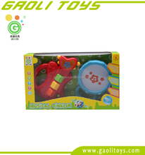 Baby Music Toys Small Plastic Funny Guitar Drum Set Toy Mini Musical Instrument