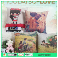 hot-selling custom design print cotton outdoor hanging chair cushion cover ,different colors avail pillows