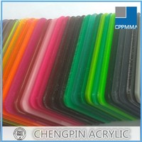 Glossy cast acrylic 2mm thick plastic sheet