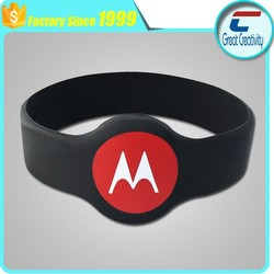 ISO 14443A waterproof RFID Silicone wristband / nfc silicone bracelet -NTAG 213